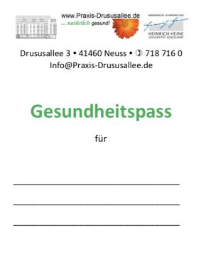 Praxis Drususallee Dr. Pukies und Dr. Schöfmann Neuss, Gesundheitspass der Praxis Drususallee